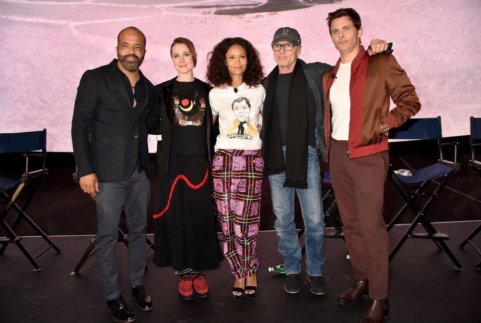 Jeffrey Wright, Evan Rachel Wood, Thandie Newton, Ed Harris and James Marsden attend the FYC Event for HBO's WESTWORLD Season