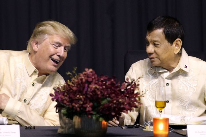 Trump has praised Philippine President Rodrigo Duterte's brutal crackdown on drugs.
