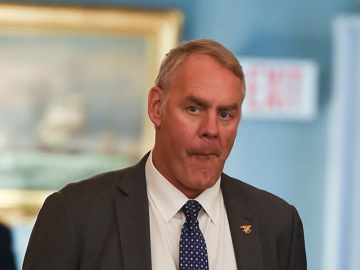 Secretary of the Interior Ryan Zinke's information from outside organizations comes under the control of a political app