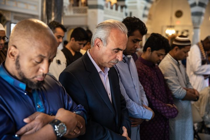 Muslims gather to perform Eid al-Fitr prayer near Washington,D.C., on June 15.