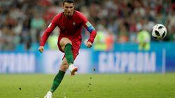 Portugal-Espagne: le coup franc égalisateur de Cristiano Ronaldo en version originale vaut le