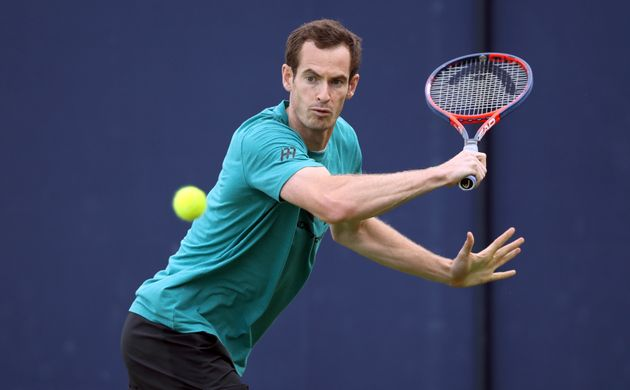 Andy Murray during a practice session on