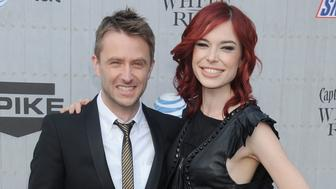 LOS ANGELES, CA - JUNE 07:  Chris Hardwick and Chloe Dykstra arrive at Spike TV's 'Guys Choice' Awards at Sony Studios on June 7, 2014 in Los Angeles, California.  (Photo by Gregg DeGuire/WireImage)
