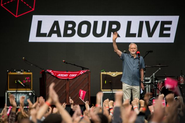 Anti-Brexit Protesters Try To Disrupt Jeremy Corbyn's Speech To 'Labour Live'