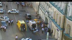 Un taxi heurte des passants en plein centre de Moscou: 7