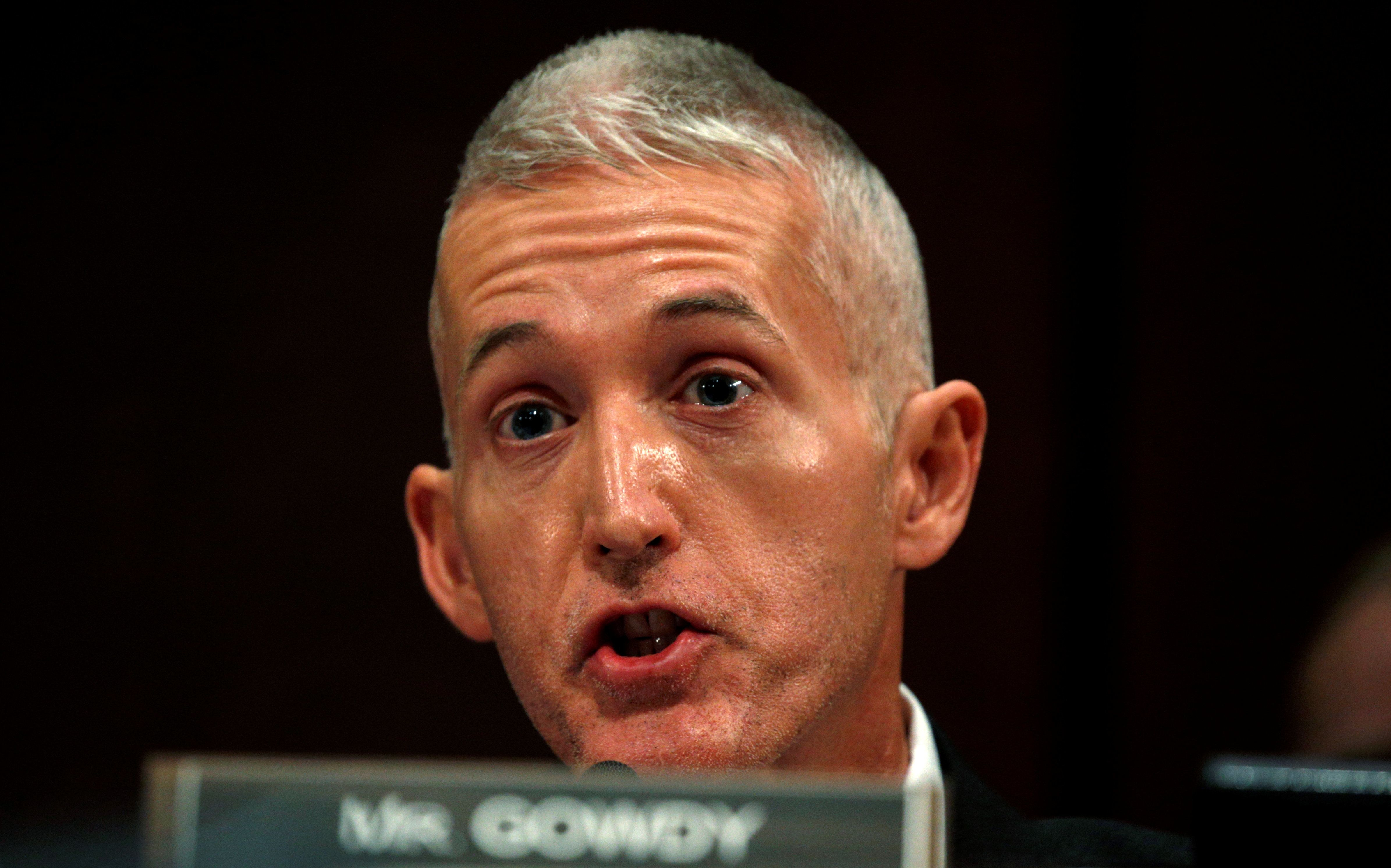 House oversight committee Chairman Trey Gowdy threatened to hold FBI and DOJ officials in contempt of Congress.