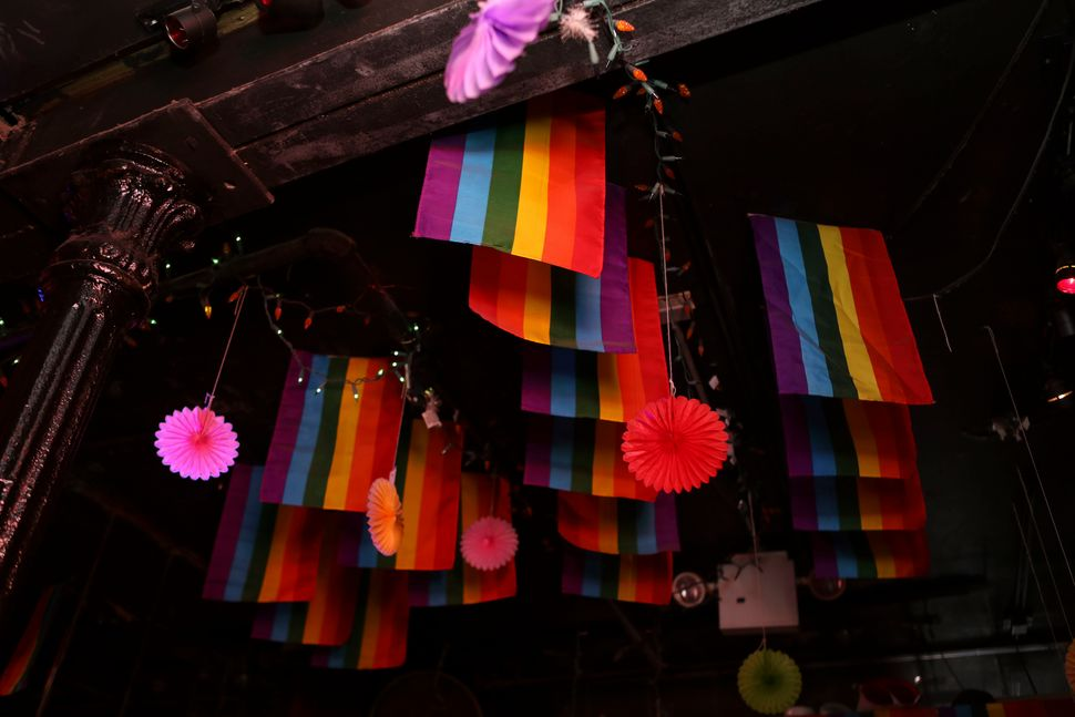 LGBTQ Pride flags on display at the inn.