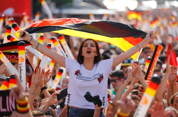 Germany fans before the match at Brandenburg Gate.