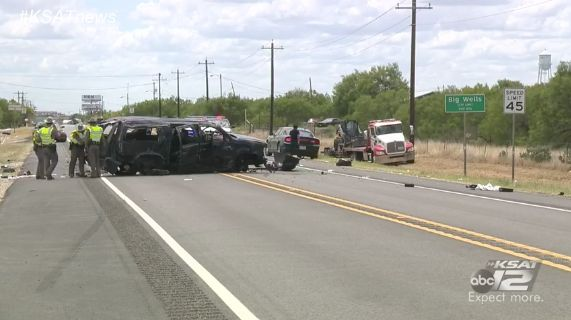 A Chevrolet Suburban believed to be carrying a dozen undocumented immigrants crashed in Big Wells, Texas,...