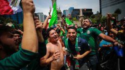 멕시코가 골을 넣은 직후, 멕시코시티에서 '인공지진'이
