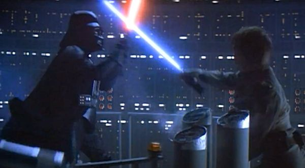 Darth Vader and Luke Skywalker battle
