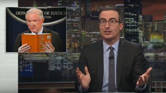 John Oliver expresses outrage at the administrations border security policies