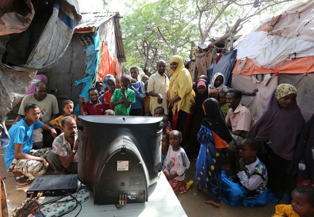 DEs somaliens suivent la coupe du monde/ Photo