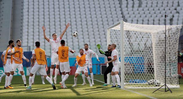 Les images du dernier entrainement des Aigles de Carthage avant le match contre l'Angleterre (PHOTOS,