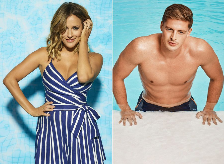 'Love Island' host Caroline Flack and contestant Alex