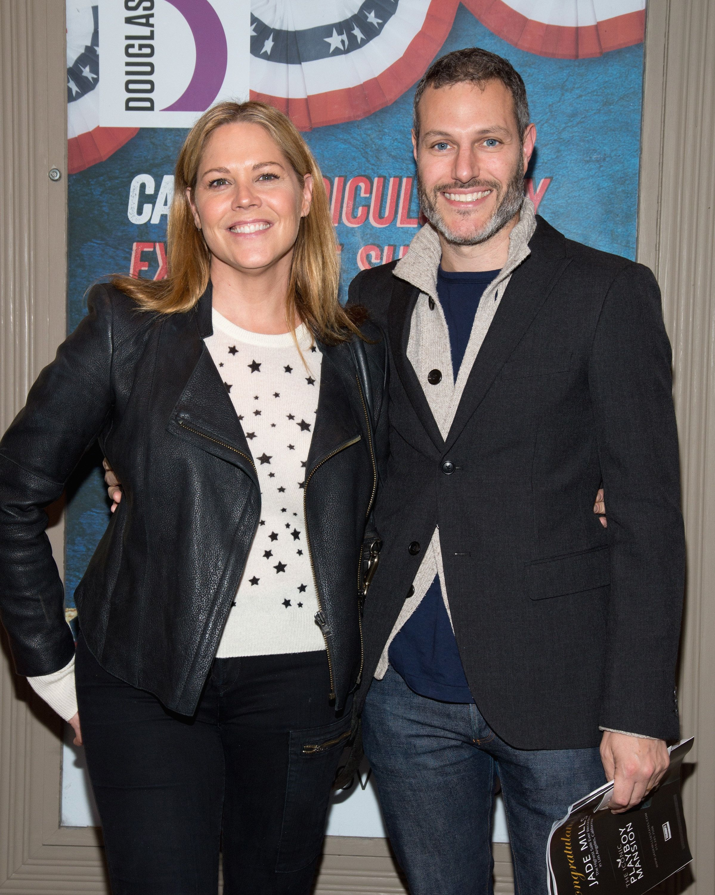 CULVER CITY, CA - OCTOBER 30:  Actress Mary McCormack and Director/Producer Michael Morris attend the premiere of Jon Robin Baitz's 'Vicuna' at Kirk Douglas Theatre on October 30, 2016 in Culver City, California.  (Photo by Tara Ziemba/FilmMagic)
