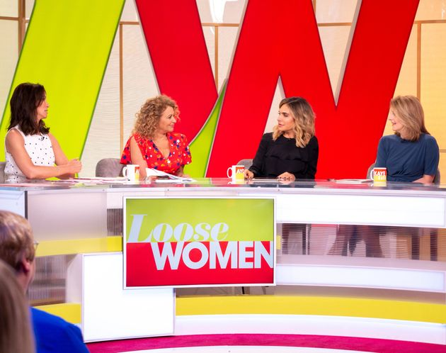 Andrea on 'Loose Women' with Nadia Sawalha, Ayda Field and Kaye Adams
