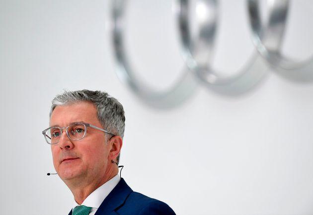 Le PDG d'Audi, Rupert Stadler, lors d'une conférence de presse à Ingolstadt en Allemagne,...