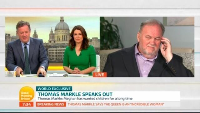 Piers Morgan Faces Backlash Over Thomas Markle's 'Good Morning Britain' Interview