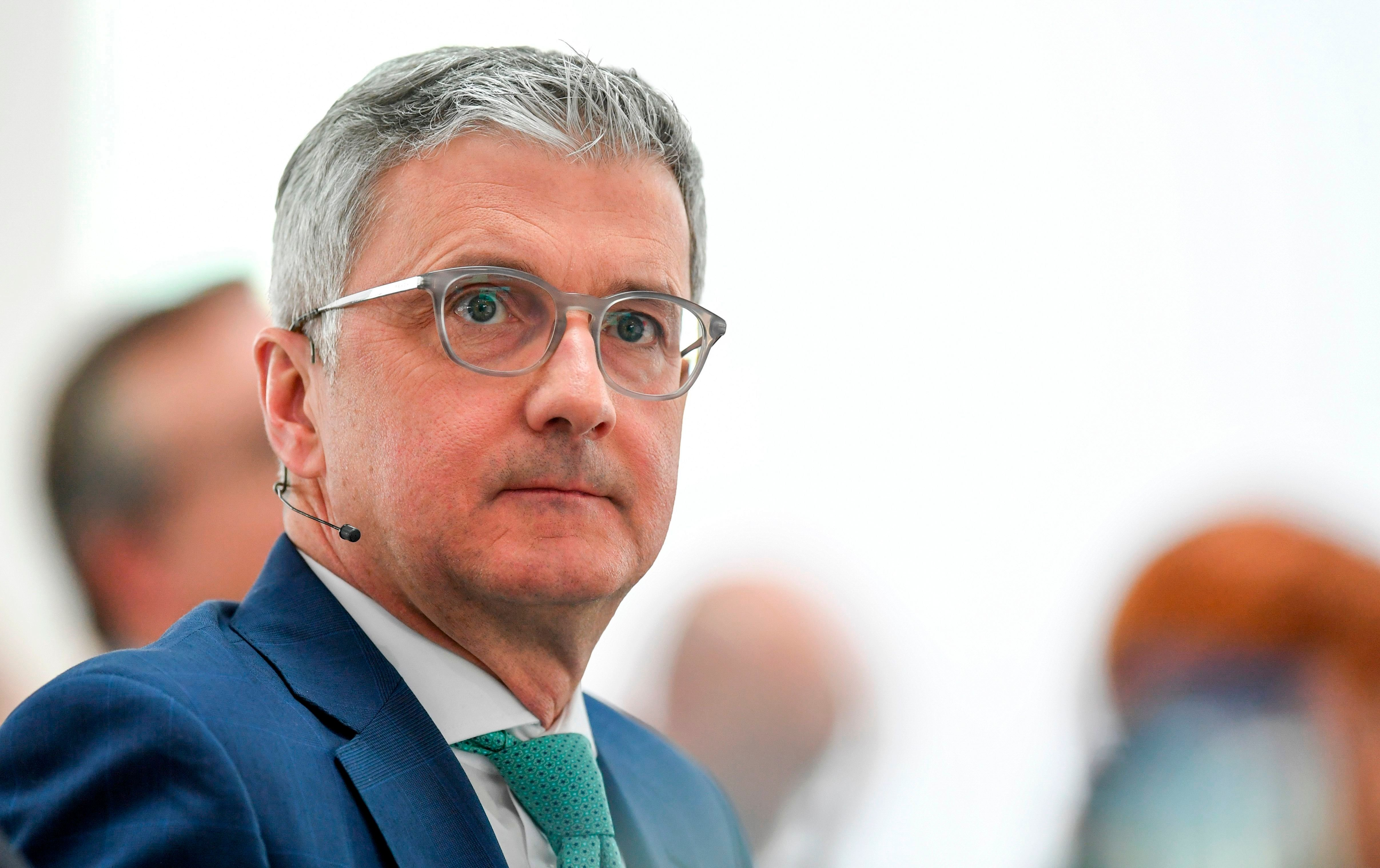 The CEO of the German carmaker Audi AG, Rupert Stadler attends the annual press conference at the headquarters in Ingolstadt, on March 15, 2018.   / AFP PHOTO / CHRISTOF STACHE        (Photo credit should read CHRISTOF STACHE/AFP/Getty Images)
