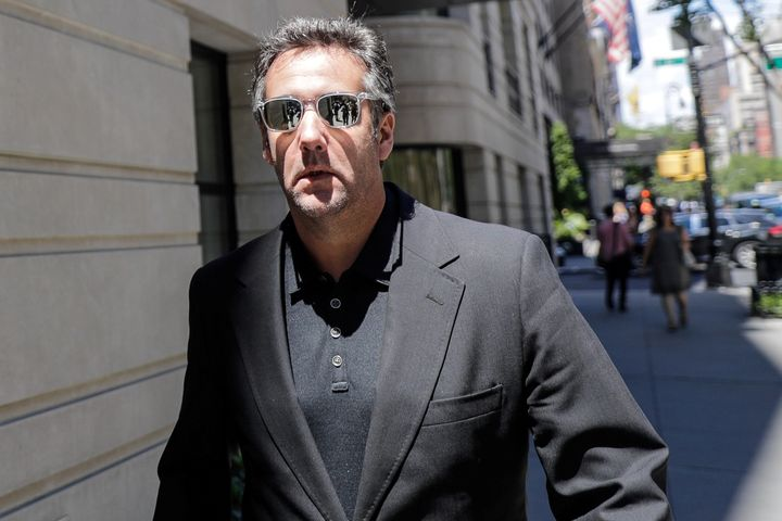 President Donald Trump's former personal attorney Michael Cohen is seen leaving a hotel in June. Cohen has been investigated for financial fraud and possible campaign finance violations.