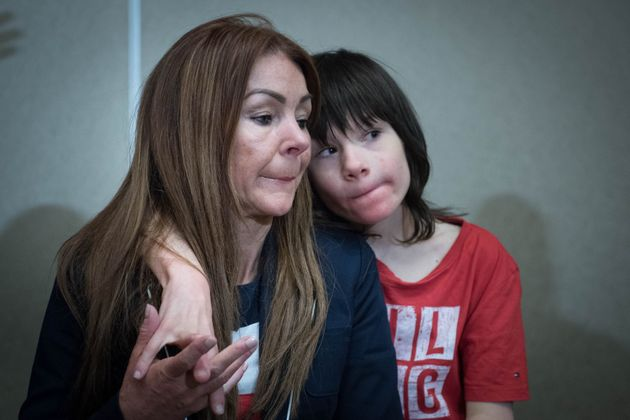 Billy Caldwell with his mother Charlotte.