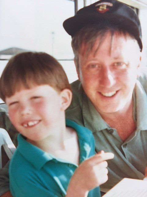 Andy McDonald with his son Rory, who died age 16