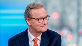NEW YORK, NY - MARCH 19:  Steve Doocy of Fox & Friends to discuss 'Maroln Bundo's a day in the life of The Vice President' with Charlotte and Karen Pence at Fox News Studios on March 19, 2018 in New York City.  (Photo by Roy Rochlin/Getty Images)