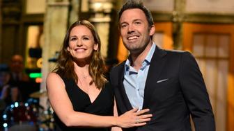 SATURDAY NIGHT LIVE -- 'Ben Affleck' Episode 1641 -- Pictured: (l-r) Jennifer Garner and Ben Affleck during the monologue on May 18, 2013 -- (Photo by: Dana Edelson/NBC/NBCU Photo Bank via Getty Images)