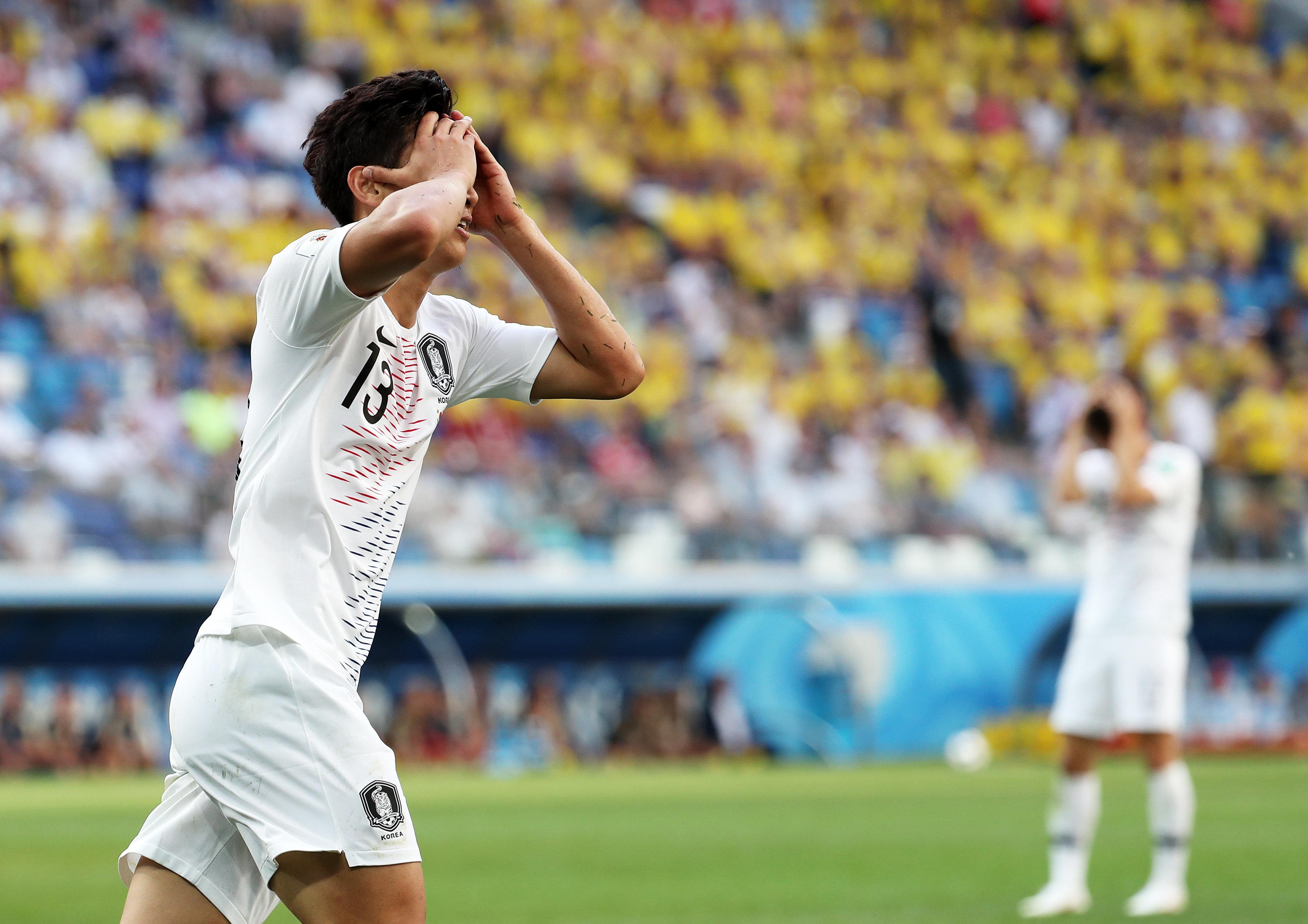 한국 축구, 월드컵 첫 경기서 스웨덴에 0-1로