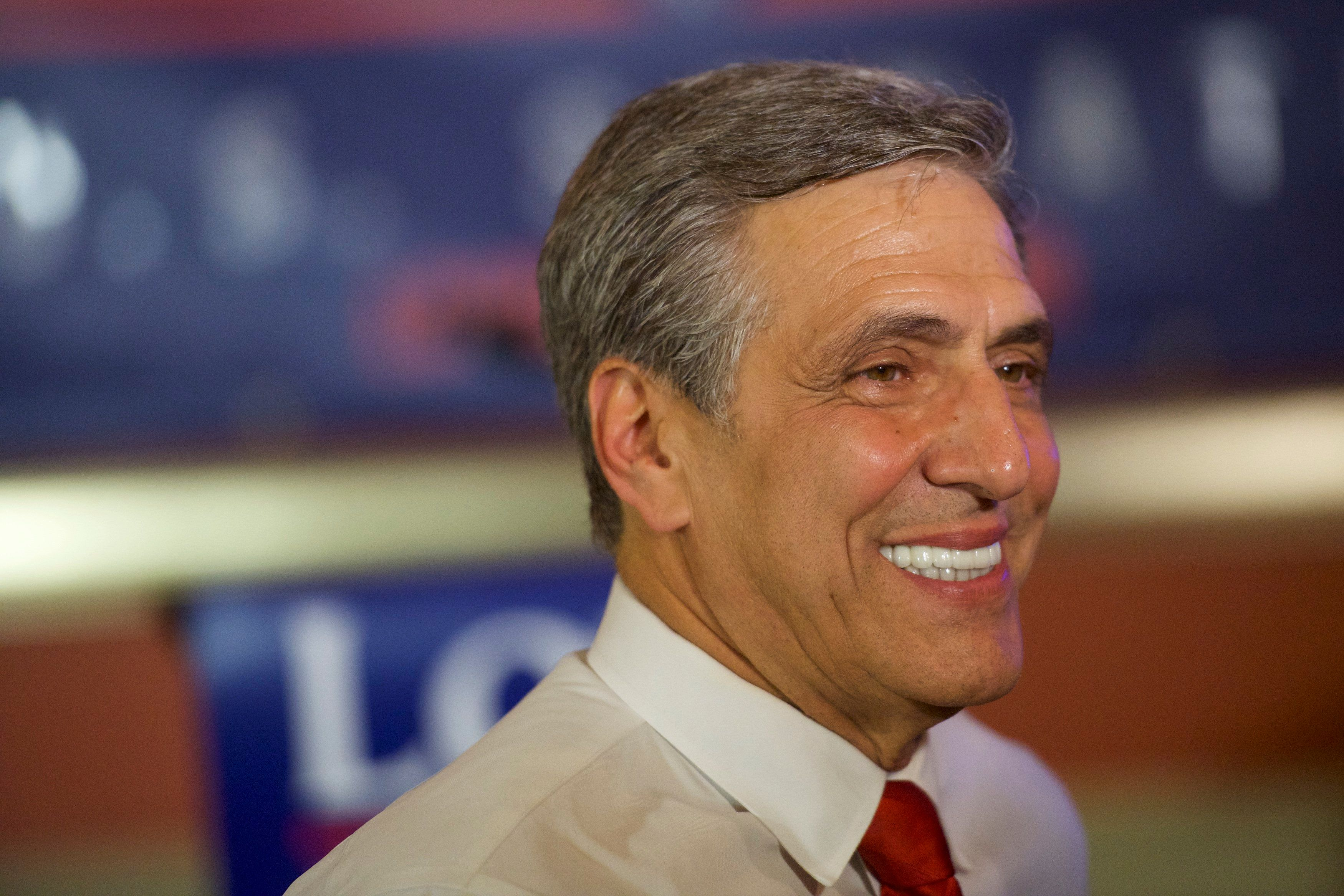 HAZLETON, PA - MAY 15:  U.S. Congressman Lou Barletta (R - Pa.) gives an interview with the media after his victory in the 2018 Pennsylvania Primary Election for U.S. Senator on May 15, 2018 in Hazleton, Pennsylvania.  In the second major May primary day nationwide, four states go to the polls: Idaho, Nebraska, Oregon, and Pennsylvania.  (Photo by Mark Makela/Getty Images)