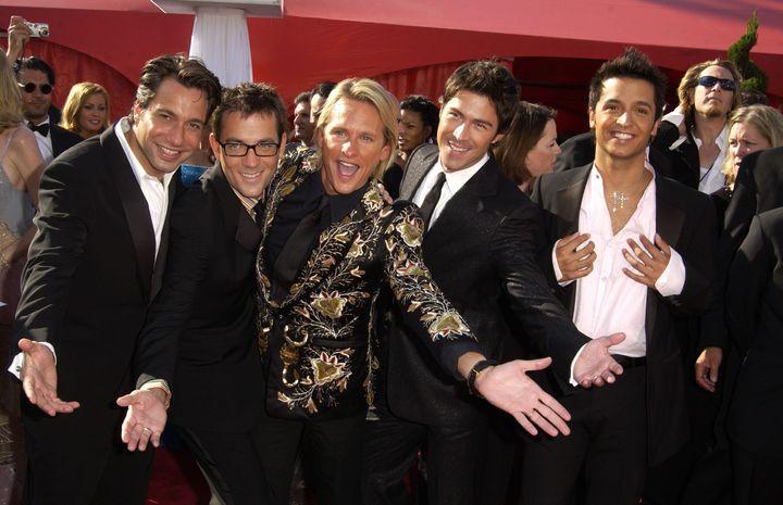 The OG Fab Five arrive at the 2003 Emmy Awards.