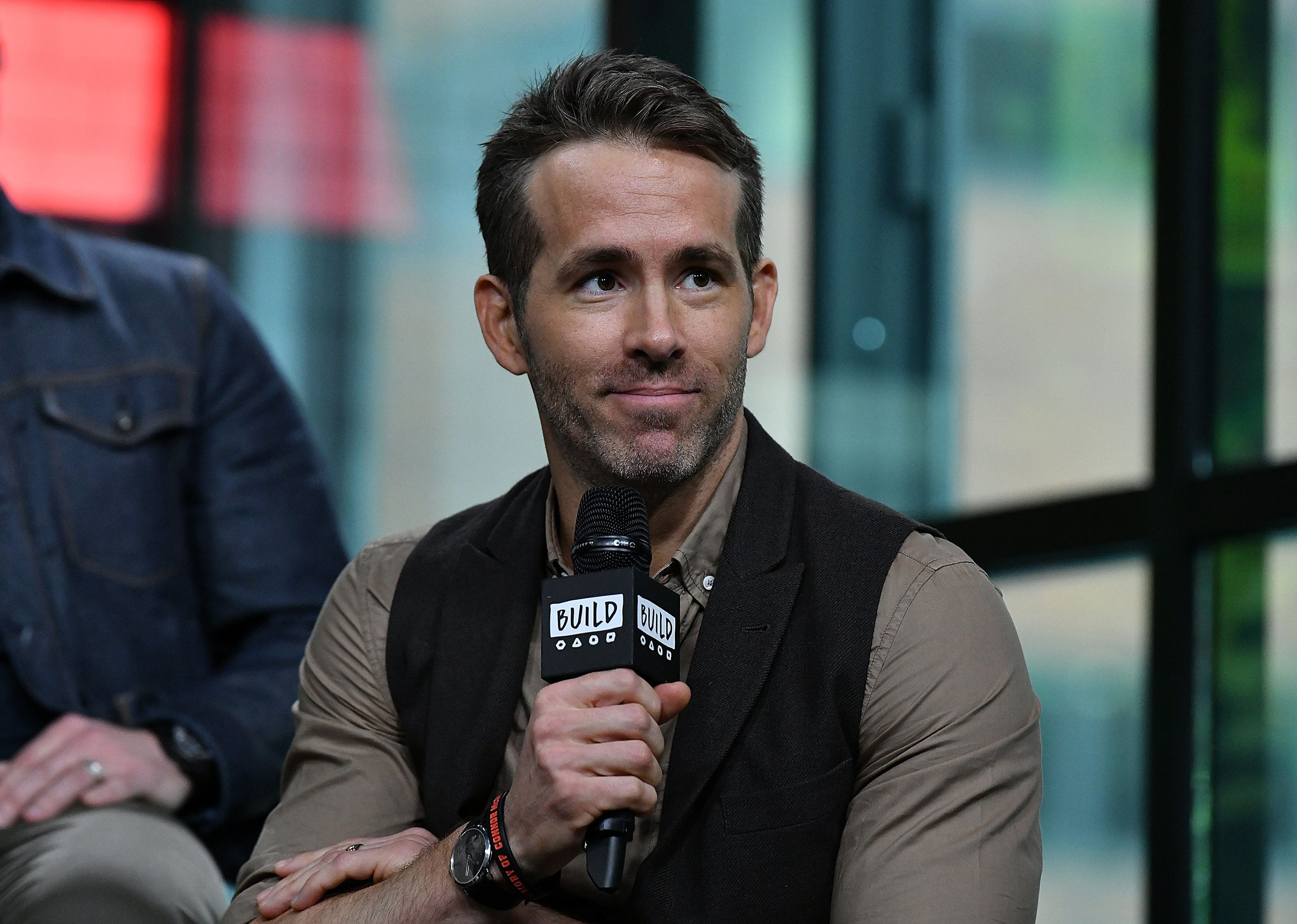 NEW YORK, NY - MAY 14:  (EXCLUSIVE COVERAGE) Actor/producer Ryan Reynolds visits Build Series to discuss 'Deadpool 2' at Build Studio on May 14, 2018 in New York City.  (Photo by Slaven Vlasic/Getty Images)