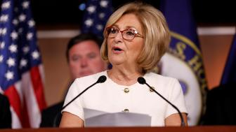 Rep. Diane Black (R-TN) announces the 2018 budget blueprint during a press conference on Capitol Hill in Washington, U.S., July 18, 2017. REUTERS/Aaron P. Bernstein