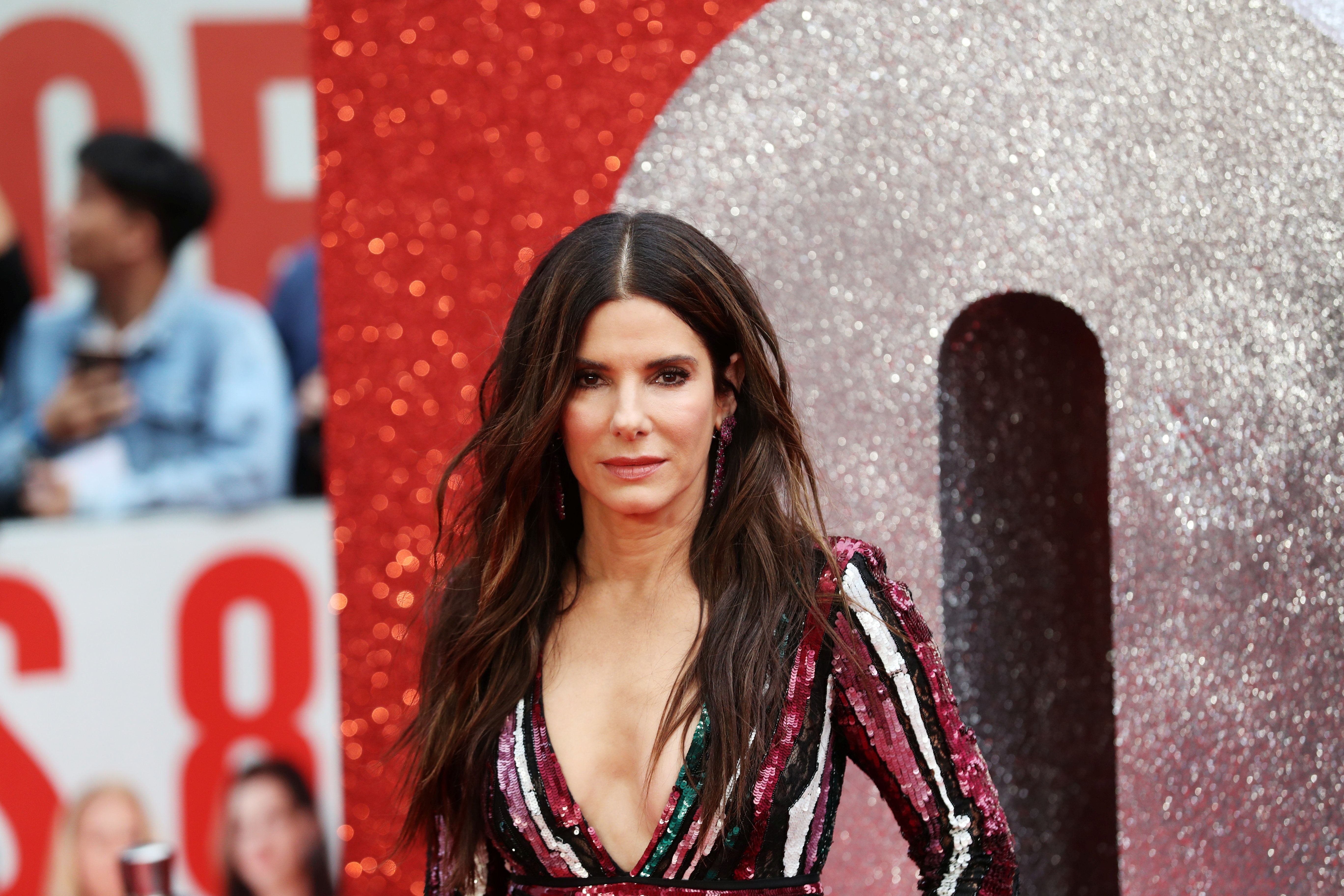 Cast member Sandra Bullock poses for pictures on the red carpet for the European premiere of Ocean's 8 in London, Britain June 13, 2018. REUTERS/Simon Dawson