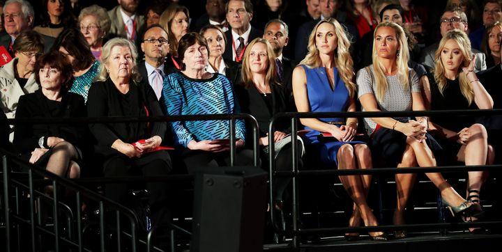 Kathleen Willey, Juanita Broaddrick, Kathy Shelton, Candice Jackson, Lara Trump, Vanessa Trump and Tiffany Trump attend