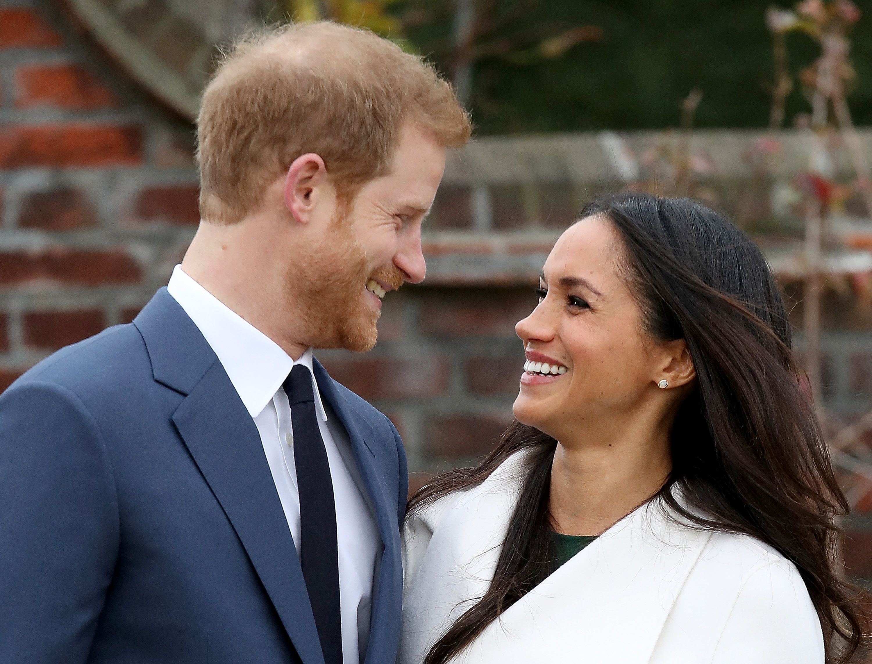 Harry and Meghan announce their engagement at Kensington Palace