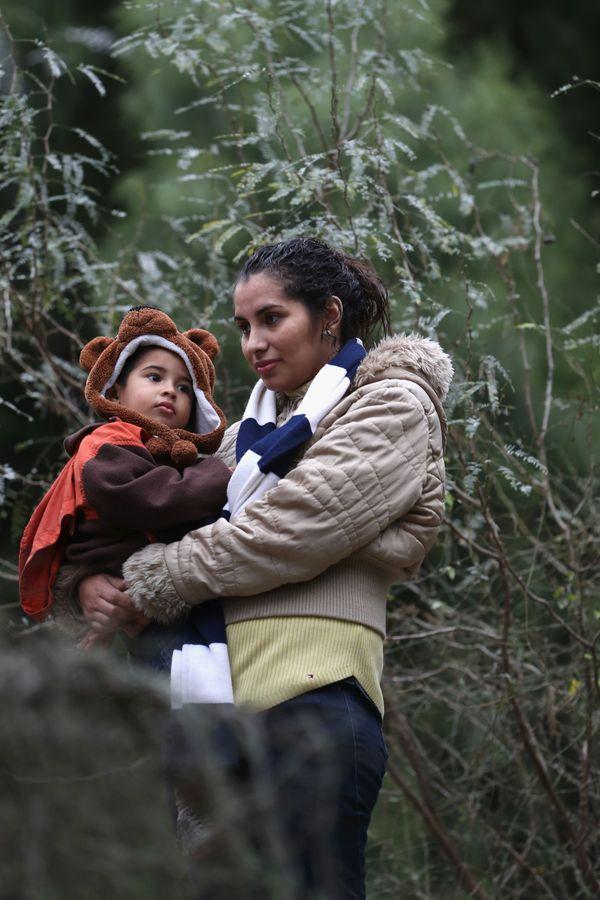A Honduranwoman and child on Jan. 4, 2017, near McAllen, Texas.