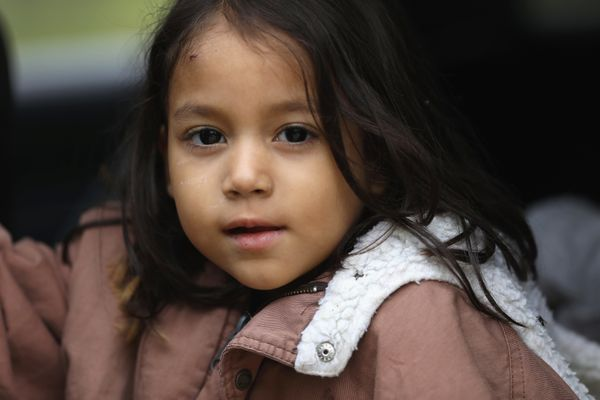 A Honduran child who crossed the U.S.-Mexico border with her family on Jan. 4, 2017, near McAllen, Texas.