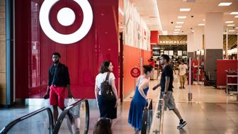 Shoppers walk past a Target Corp. store at City Point in the Brooklyn borough of New York, U.S., on Tuesday, July 18, 2017. Bloomberg is scheduled to release consumer comfort figures on July 20. Photographer: Mark Kauzlarich/Bloomberg via Getty Images