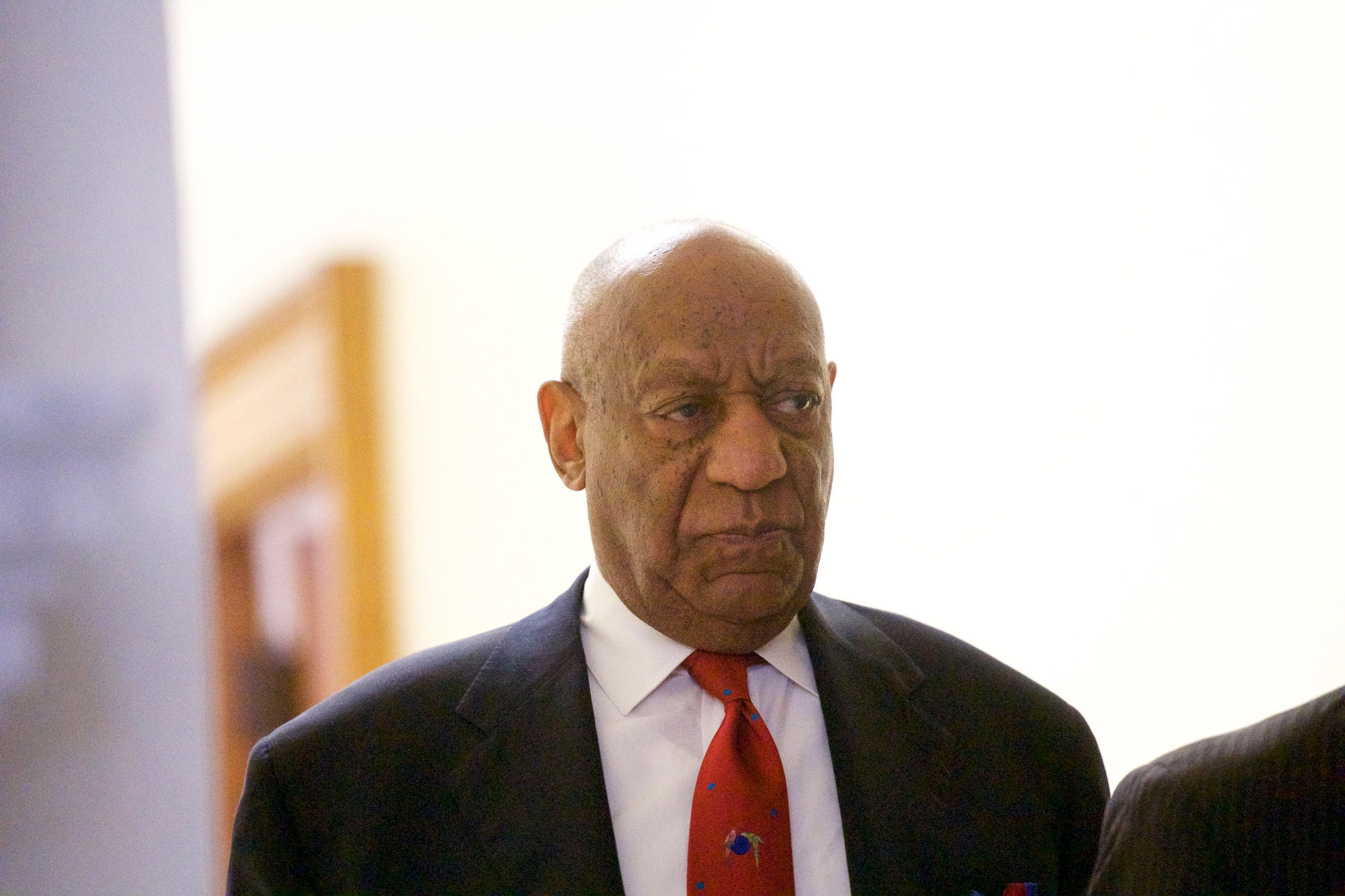 Bill Cosby walks out of court in Norristown, Pennsylvania, on April 26 after being found guilty of sexual assault.