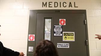 """The women's medical room is seen at the Adelanto immigration detention center, which is run by the Geo Group Inc (GEO.N), in Adelanto, California, U.S., April 13, 2017. REUTERS/Lucy Nicholson SEARCH """"ICE NICHOLSON"""" FOR THIS STORY. SEARCH """"WIDER IMAGE"""" FOR ALL STORIES."""