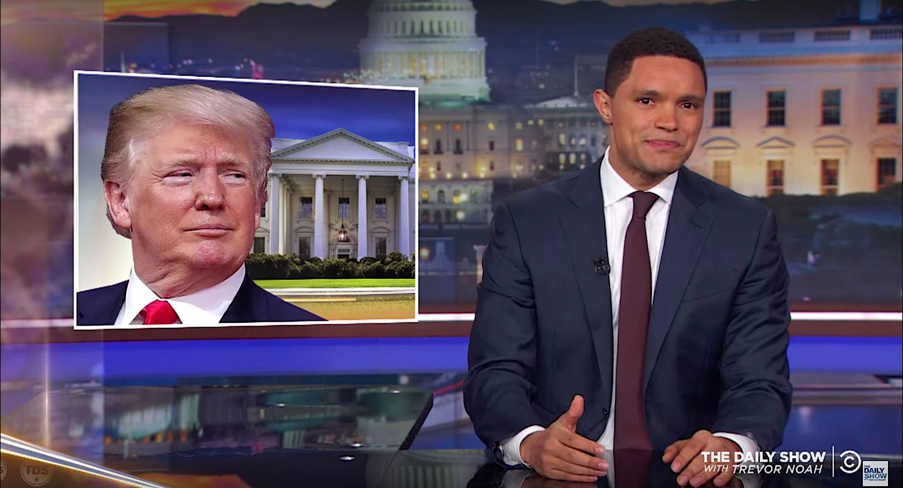 Trevor Noah calls out President Donald Trump on keeping kids in cages
