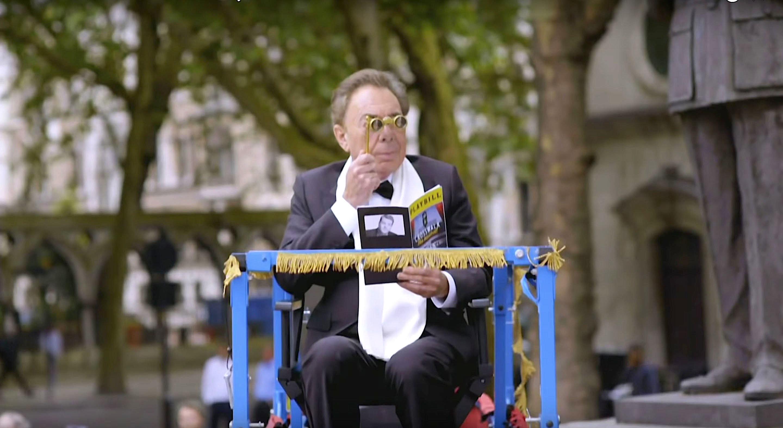 Lord Andrew Lloyd Webber taking in Crosswalk the Musical