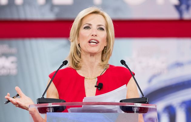 Fox News host Laura Ingraham, shown here on Feb. 23, 2018, at CPAC in Oxon Hill, Md., on Monday compared...
