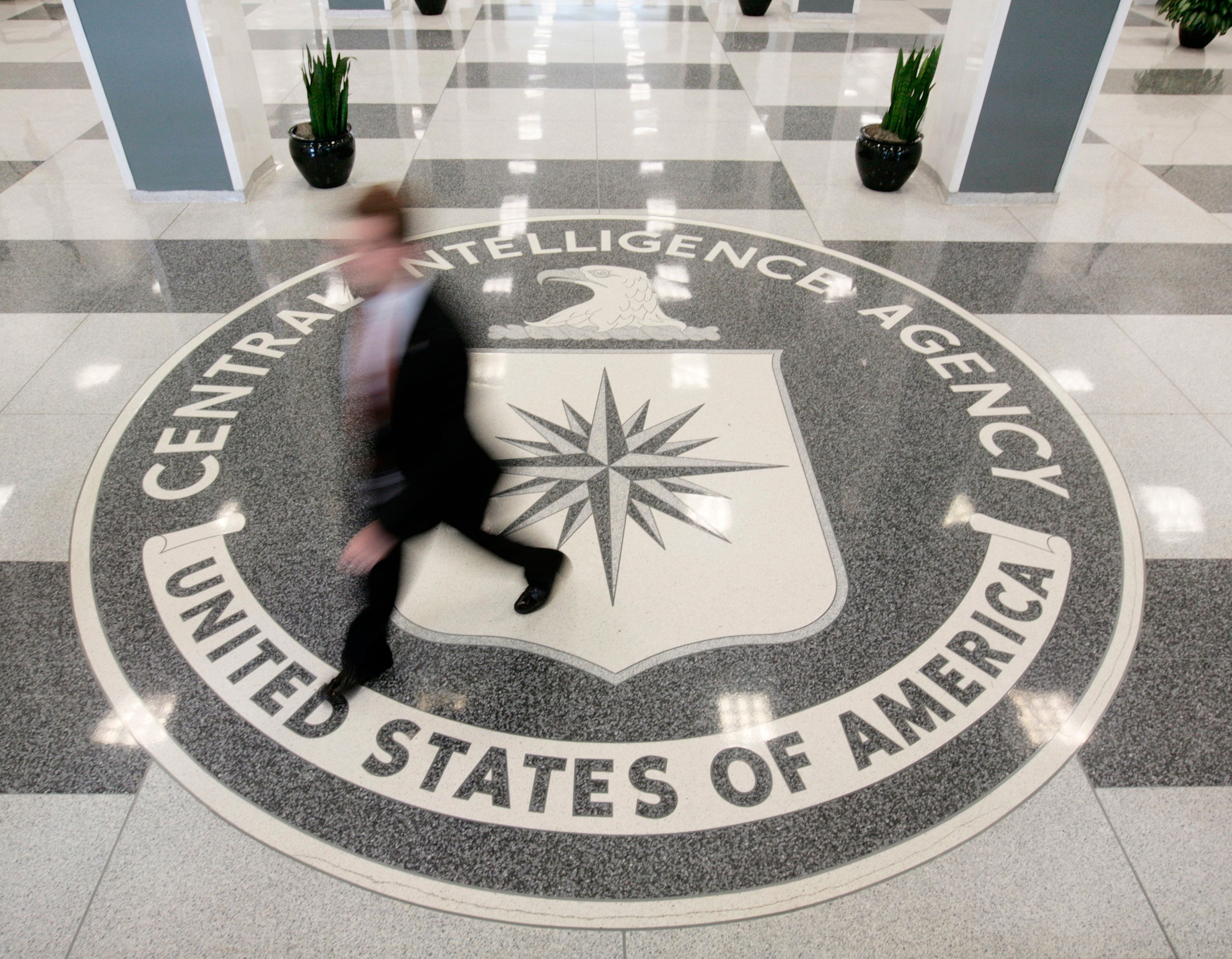 The lobby of the CIA Headquarters Building in McLean, Virginia, August 14, 2008.      REUTERS/Larry Downing      (UNITED STATES)