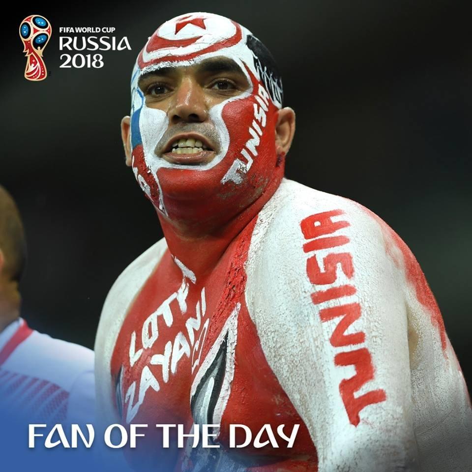 """Le fameux supporter tunisien """"Reda El Fil"""" élu """"Fan of the day"""" par la FIFA"""