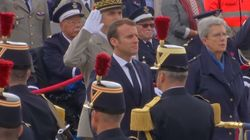Macron Schools Young Person When Greeting Crowds
