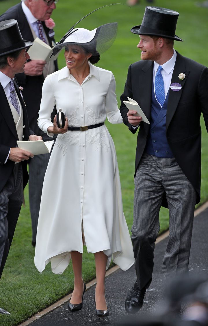 The Duke and Duchess of Sussex at the Royal Ascot horse racing meeting on June 19.