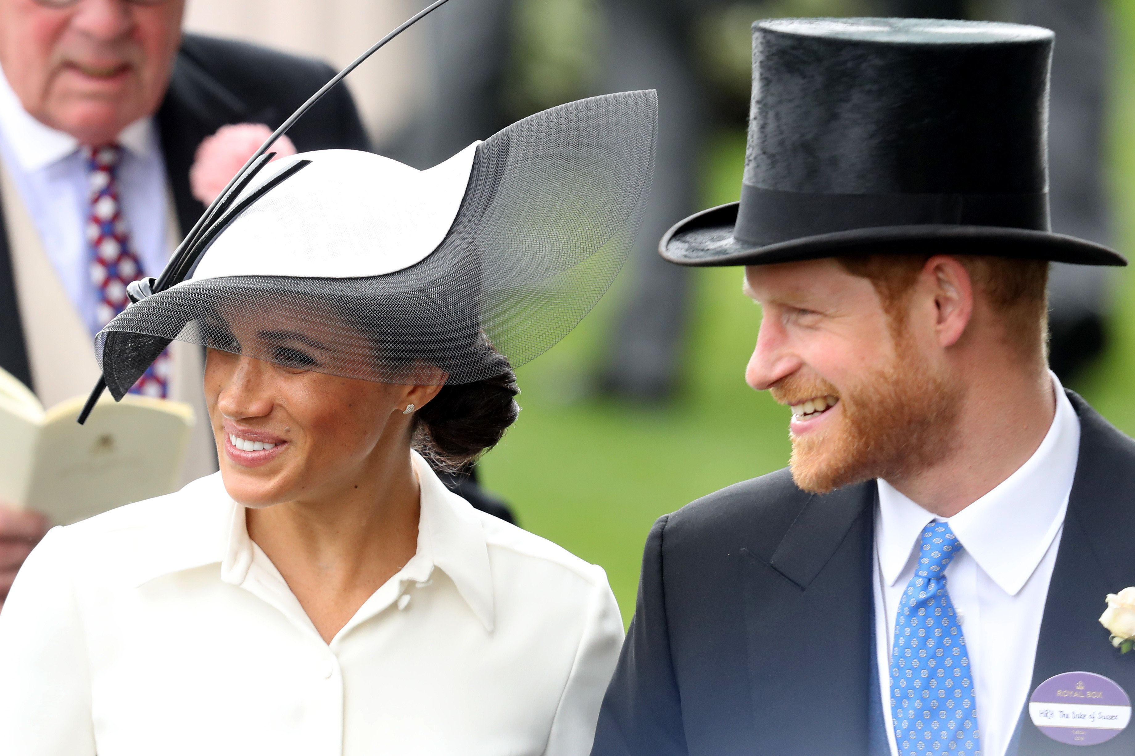 ASCOT, ENGLAND - JUNE 19:  Meghan, Duchess of Sussex and Prince Harry, Duke of Sussex attend Royal Ascot Day 1 at Ascot Racecourse on June 19, 2018 in Ascot, United Kingdom.  (Photo by Chris Jackson/Getty Images)